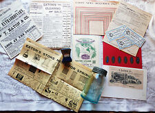 EATONS ADVERTISING CANADIAN ADVERTISING RETAIL STORE 13 PIECE LOT