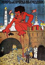 Trotsky propaganda anti-Kremlin A3 Art Poster Print