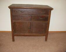 Antique Vtg Wood Dresser Cabinet Washstand Country Rustic Primitive Mid Century