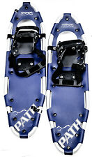 "LOT OF 1 Pair POWDERIDGE PATH Unisex Snowshoes 8 X 25"" Snow Shoe Blue NEW"