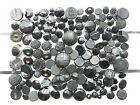 Verre noir pressé - Lot de 150 boutons anciens 8 à 27 mm
