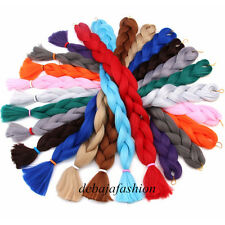 100CM 100% Kanekalon Soft Jumbo Braid Synthetic Fiber Hair Extension Twist 165g