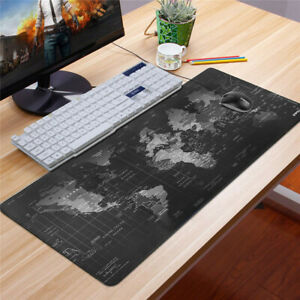 Non-slip World Map Design Wide Large Computer Mouse Pad Desk Mat 80*30 Earth Map