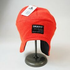 Trukfit mens 100% authentic Beanie embroidered one size army orange logo