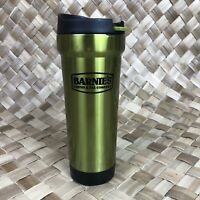Barnies Coffee Green Thermos Travel Mug Cup BYOC Stainless 15 oz