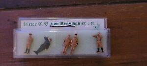 Ritter von Krauthauser Nr. 8751 H0 5 Wehrmachtssoldaten WW2 Afrika NEU in OVP