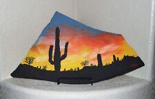 Desert Southwest Sunset Landscape Flagstone Painting By Artist Elissa Shakal