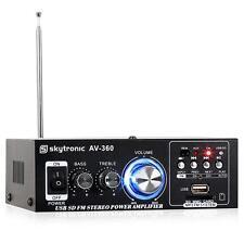 AMPLI HIFI STEREO SKYTRONIC AV-360 USB SD MP3 TUNER RADIO FM VERSTERKER 2x 40W