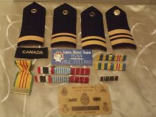 vintage Royal Canadian Navy lot 14 pcs officer's uniform slip ons ensignia