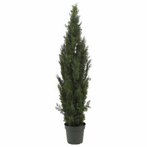 1 Cedar Pine Tree Artificial 6 Foot Cypress Topiary Outdoor UV Rated Potted 7 5
