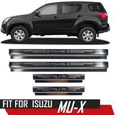 SILL SCUFF STEP PLATE PANEL CHROME STAINLESS STEEL FOR ISUZU MU-X MUX SUV 13-ON