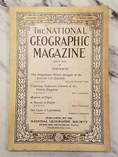 ANTIQUE NATIONAL GEOGRAPHIC - July 1919, Vol. 36, No. 1