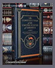 New Constitution of United States America Leather Sealed Collectible Hardcover