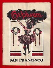 "De Kolta ""Wizard"" * ORPHEUM VAUDEVILLE * Ethel Levey 1903 San Francisco Program"
