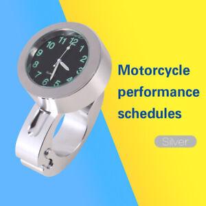 "Motorcycle Waterproof Handlebar Clock Watch Glow Mount Universal For 7/8"" to 1"""