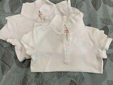 Girls White Uniform Polo Size S 6/6x cat and jack 2 shirts lot