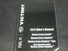 VICTORY CROSS ROADS COUNTRY  2012 RIDER'S MANUAL owner manual