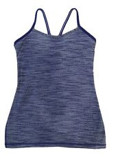Lululemon Power Y Tank Purple Spacedye Workout Top Sz 6