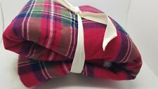 Pottery Barn Kids Classic Plaid Sherpa Quilted Red Standard Sham #3390