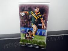 ✺Signed✺ JAMES TAMOU Photo & Stand COA North Queensland Cowboys 2018 Jersey
