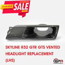 For NISSAN Skyline R32 GTR GTS Carbon Front Vented Headlight Replacement (LHS)
