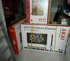 SMART TV 50 POLLICI AL PLASMA AKAI ANDROID TV WI FI LAN DVB T2 H.265 NUOVA