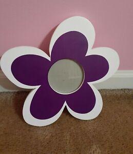 "Funky Purple & White Flower 3"" Circular Opening Insert Free Standing"