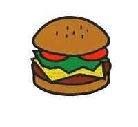 Patch embroidered iron on cloth badges kawaii biker burger hamburger  applique
