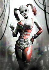 Arkham Asylum HARLEY QUINN Black & White w Red Pin Up Print DC Batman Joker