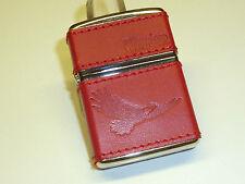 "Vintage Zippo Lighter with Armor case - ""Winston"" - Leather Coat - 2007-Rare"