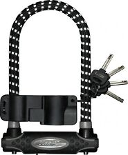 Master Lock Gold Secure Reflective Bicycle Shackle D-Lock Black 210mm x 13mm
