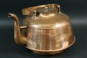 Großer Tee Wasserkessel Kupfer 19.Jhd (MÖ4669)