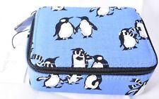 VERA BRADLEY Travel Pill Case (Playful Penguins Blue, 14555-I57) >NEW<