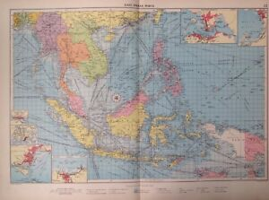 East Indian Ports, 1952, Mercantile Marine Atlas, Philip