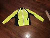 Brooks NIGHTLIFE Womens M  Black Neon Yellow Technology LtWt  Windbreaker Jacket