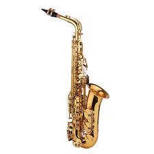 Eb Alt Saxophon Sax Messing Altsaxophon Saxofon Gold mit Koffer Pflege Set L4C3