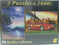 PUZZLE 2 pz x 1000 - 1° MARE TROPICALE / 2° CAVALLI SELVAGGI - cm 67,7 x 47,7