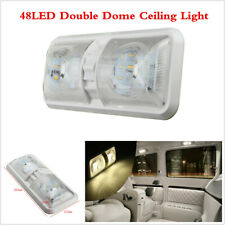 1Pcs Car 12V 48LED Interior Double Dome Ceiling Light For RV Camper Trailer SUV