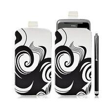 Housse coque étui pochette pour HTC Desire Z avec motif HF04 + Stylet luxe