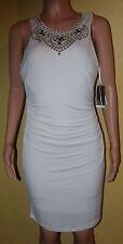 Thalia Sodi Womens White Sleeveless Embellished Cocktail Dress SIZE MEDIUM