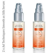 2 x Avon Advance Techniques liscia come la seta Siero // anti arricciatura lucido (prezzo consigliato £ 11)