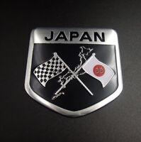Car Metal Badge Japan Japanese Flag Shield Emblem Aluminum Motorcycle Sticker