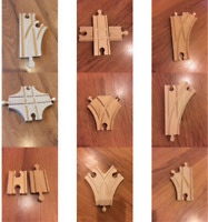 Wooden Train Track Junctions - Brio, Bigjigs & Other Brands (postage offer)
