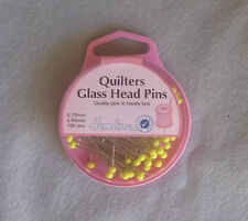 Quilters Glass Head Pins box of .7 mm x 45mm x 100 pins