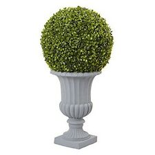Nearly Natural 5965 2.5 Ft Boxwood Topiary with Urn Indoor/Outdoor Green NEW
