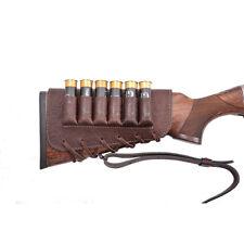 Buttstock shotgun shell holder,holds 6 shotgun shells,genuine leather,right hand