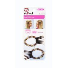 scunci 2pcs 39308-a  pair beaded small designer bending clip comb