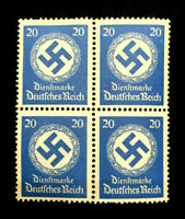Authentic Germany MNH WWII PF20 Stamp BLOCK 1942