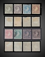 1885 MONACO PRINCE CHARLES III LOT MINT HINGED AND USED SCT. 1-8 MI. 1-8 Y. 1-8