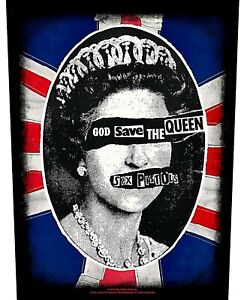 Sex Pistols God Save The Queen  giant sew-on backpatch 360mm x 290mm (rz)